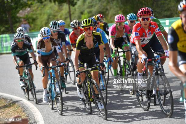 Simon Yates of Great Britain and Team Mitchelton-Scott / Michal Kwiatkowski of Poland and Team Sky Red Leader Jersey / during the 73rd Tour of Spain...
