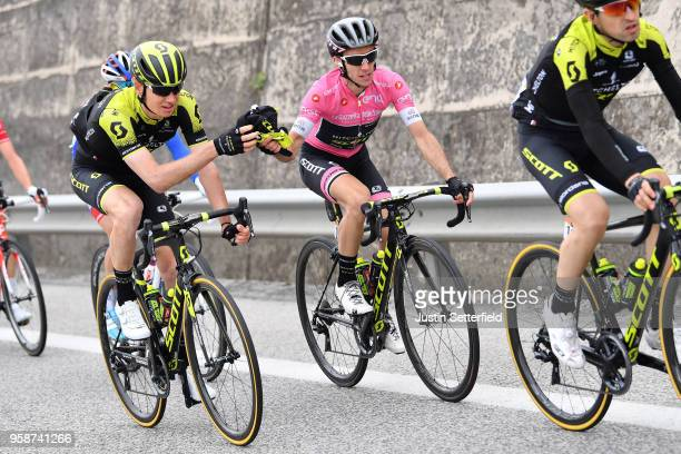 Simon Yates of Great Britain and Team Mitchelton-Scott Pink Leader Jersey / Jack Haig of Australia and Team Mitchelton-Scott / during the 101st Tour...