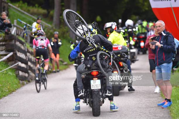 Simon Yates of Great Britain and Team Mitchelton-Scott Pink Leader Jersey / Assistant Motorbike / Scott Bike / during the 101st Tour of Italy 2018,...