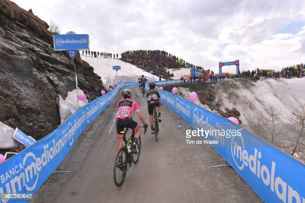 Simon Yates of Great Britain and Team Mitchelton-Scott Pink Leader Jersey / Mikel Nieve Ituralde of Spain and Team Mitchelton-Scott / Colle Delle...