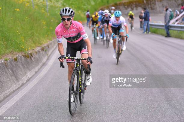 Simon Yates of Great Britain and Team MitcheltonScott Pink Leaders Jersey / Miguel Angel Lopez of Colombia and Astana Pro Team White Best Young...
