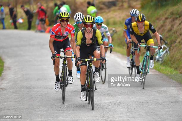 Simon Yates of Great Britain and Team MitcheltonScott Red Leader Jersey / Adam Yates of Great Britain and Team MitcheltonScott / Steven Kruijswijk of...
