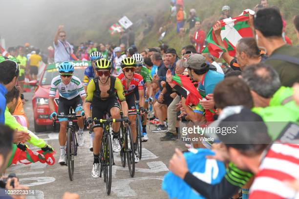 Simon Yates of Great Britain and Team Mitchelton-Scott Red Leader Jersey / Adam Yates of Great Britain and Team Mitchelton-Scott / Miguel Angel Lopez...