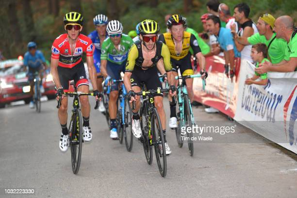 Simon Yates of Great Britain and Team Mitchelton-Scott Red Leader Jersey / Adam Yates of Great Britain and Team Mitchelton-Scott / Steven Kruijswijk...