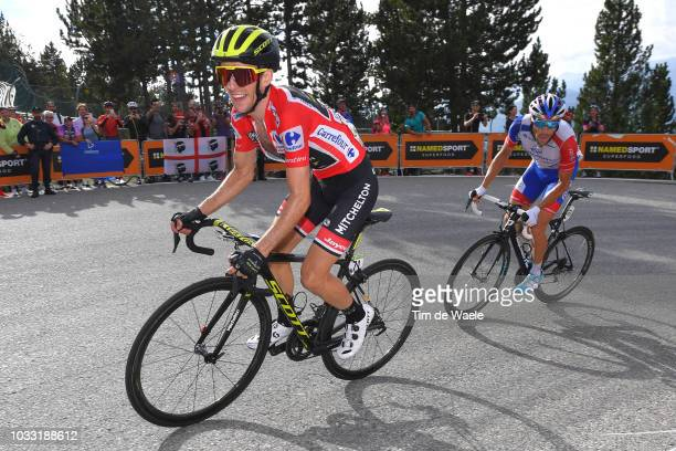 Simon Yates of Great Britain and Team MitcheltonScott Red Leader Jersey / Thibaut Pinot of France and Team Groupama FDJ / during the 73rd Tour of...