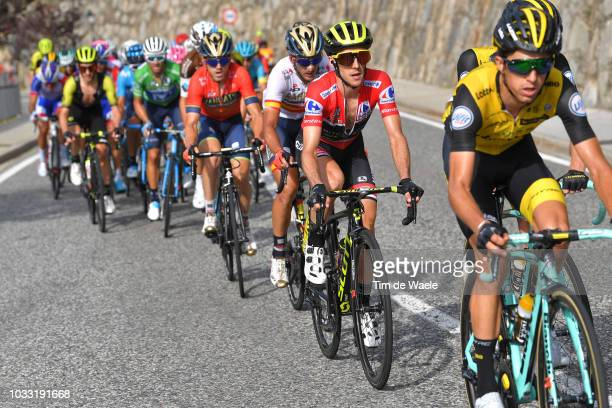 Simon Yates of Great Britain and Team Mitchelton-Scott Red Leader Jersey / during the 73rd Tour of Spain 2018, Stage 19 a 154,4km stage from Lleida...