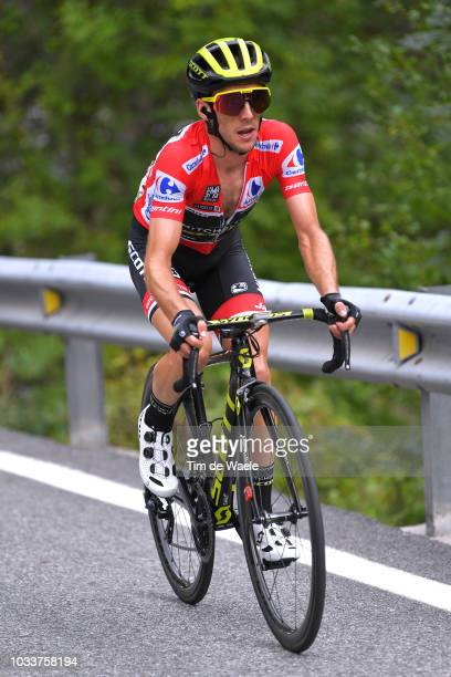 Simon Yates of Great Britain and Team Mitchelton-Scott Red Leader Jersey / during the 73rd Tour of Spain 2018, Stage 20 a 97,3km stage from...