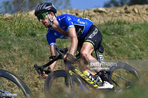 Simon Yates of The United Kingdom and Team Mitchelton-Scott Blue Leader Jersey / during the 55th Tirreno-Adriatico 2020, Stage 6 a 171km stage from...