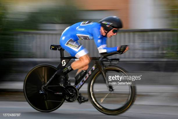 Simon Yates of The United Kingdom and Team Mitchelton-Scott Blue Leader Jersey / during the 55th Tirreno-Adriatico 2020 - Stage 8 a 10,1km Individual...