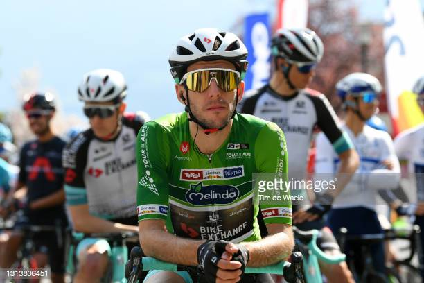 Simon Yates of United Kingdom and Team BikeExchange green leader jersey on start during the 44th Tour of the Alps 2021, Stage 4 a 168,6 to stage from...