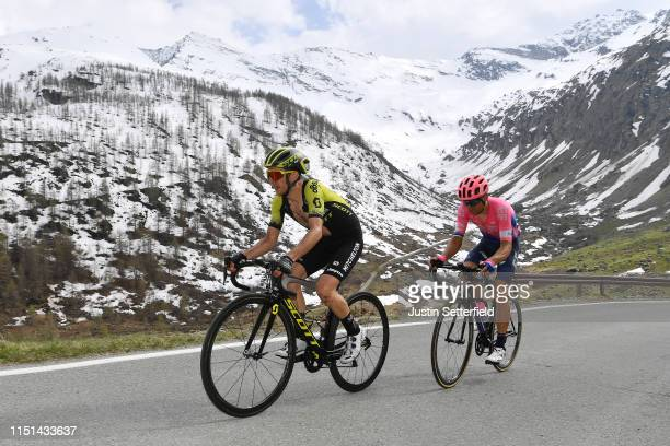 Simon Yates of United Kingdom and Team Mitchelton Scott / Tanel Kangert of Estonia and Team EF Education First / Ceresole Reale / Landscape /...