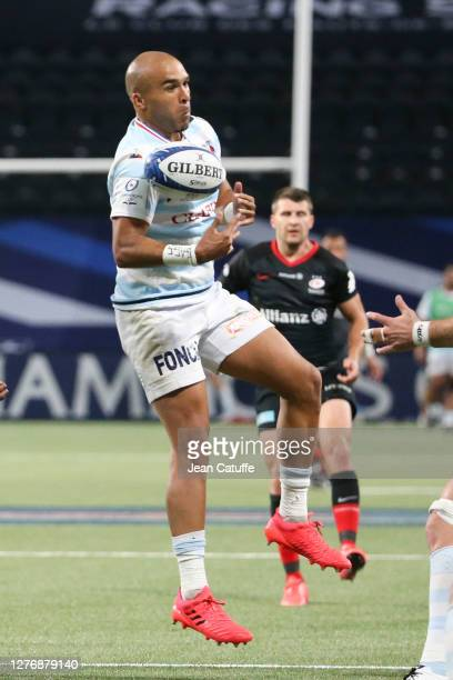 Simon Zebo of Racing 92 during the Heineken Champions Cup Semi Final match between Racing 92 and Saracens at Paris La Defense Arena on September 26...