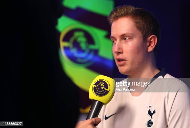 Simon 'Zimme' Nystedt of Tottenham during day one of the 2019 ePremier League Finals at Gfinity Arena on March 28 2019 in London England