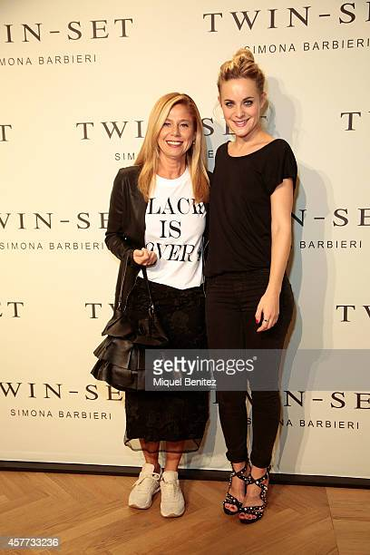 Simona Barbieri and Alba Ribas attend the TwinSet of Simona Barbieri's store inauguration on October 23 2014 in Barcelona Spain