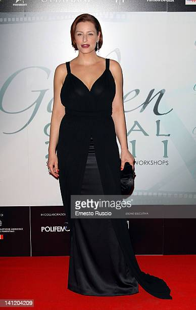 Simona Borioni attends the 2012 Golden Graal Awards at Hotel Bernini on March 12 2012 in Rome Italy