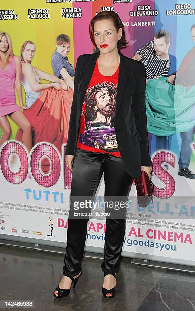Simona Borioni attends the Good As You premiere at Cinema Fiamma on April 5 2012 in Rome Italy