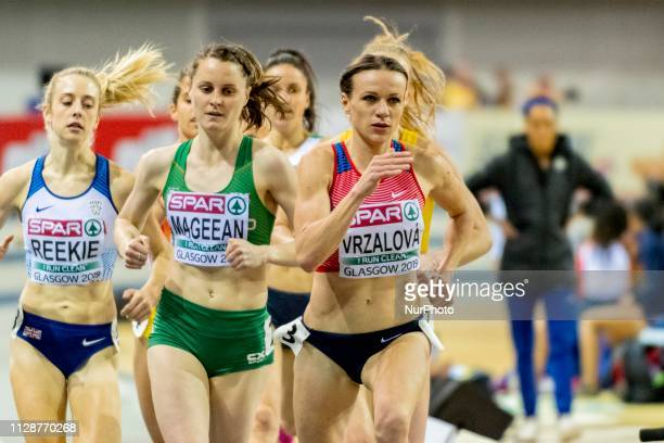 Simona CZE and MAGEEAN Ciara IRL competing in the 1500m Women event during day ONE of the European Athletics Indoor Championships 2019 at Emirates...