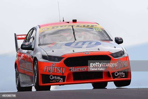 Simona De Silvestro drives the Harvey Norman Supergirls Ford FG X Falcon during practice for the Bathurst 1000 which is race 25 of the V8 Supercars...