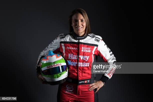 Simona de Silvestro Nissan Altima poses during a portrait session during the 2017 Supercars media day on February 8 2017 in Adelaide Australia