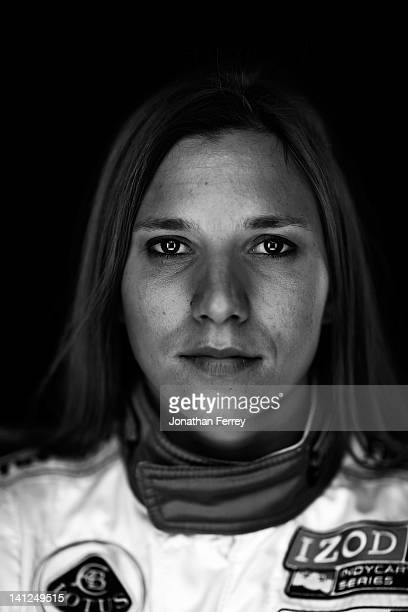 Simona de Silvestro of Switzerland driver of the Nuclear Clean Air Energy HVM Racing Lotus Dallara DW12 poses for a portrait at the Mahaffey Theater...