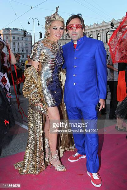 Simona Gandolfi and Hubertus von Hohenlohe attend the Life Ball 2012 AIDS charity fundraiser at City Hall on May 192 012 in Vienna Austria