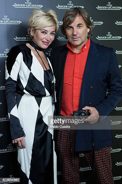 Simona Gandolfi and Hubertus von Hohenlohe attend the 'Reverso' JaegerLeCoultre watch presentation at Alma Sensai Club on November 16 2016 in Madrid...