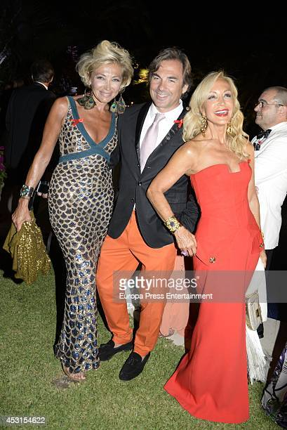Simona Gandolfi Hubertus Von Hohenlohe and Carmen Lomana attend 'Concordia Charity Party' on August 1 2014 in Marbella Spain
