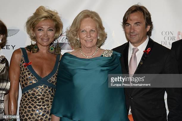 Simona Gandolfi Princess Louise of Prussia and Hubertus Von Hohenlohe attend 'Concordia Charity Party' on August 1 2014 in Marbella Spain