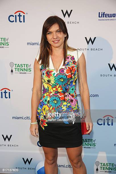 Simona Halep Attends Taste Of Tennis At W South Beach Tasteoftennis Hotel On