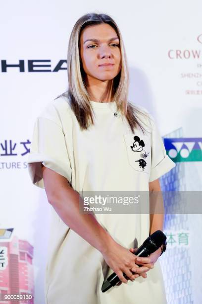 Simona Halep attends the Player Party during the 2018 WTA Shenzhen Open at Zhu Jiang Crowne Plaza Hotel on December 31 2017 in Shenzhen China