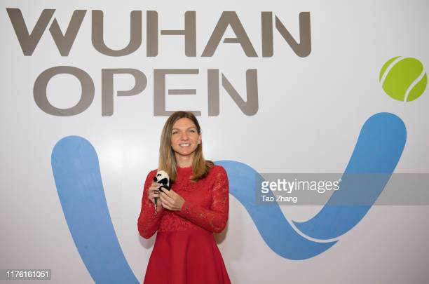 Simona Halep of Romania attends a official player party at Hilton hotel on September 21 2019 in Wuhan China