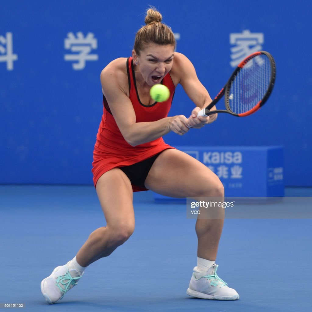 Uncategorized Simona Suh belarus aryna sabalenka falls down during the fed cup world group simona halep of romania competes quarterfinal match against on day