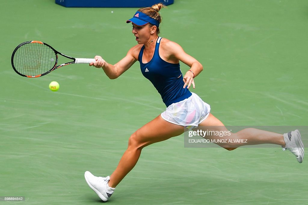 TEN-US-OPEN-BABOS-HALEP : ニュース写真