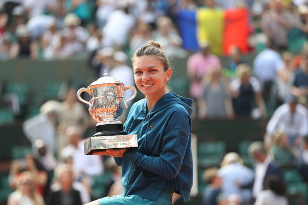 Image result for simona halep 2018 french open trophy