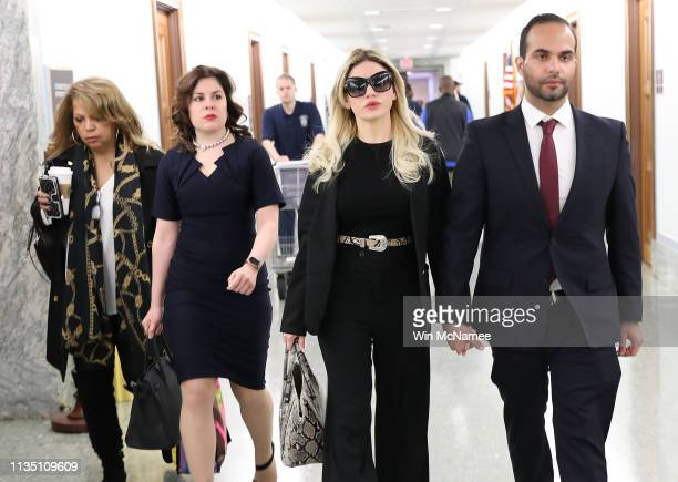 Simona Mangiante wife of former Trump campaign foreign affairs advisor George Papadopoulos arrives in the Hart Senate Office Building March 11 2019...