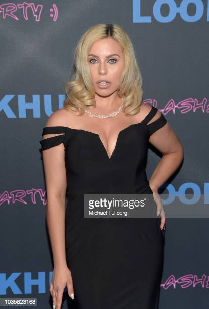 Simona Shyne attends the premiere party for LookHu's Slasher Party at ArcLight Hollywood on September 18 2018 in Hollywood California