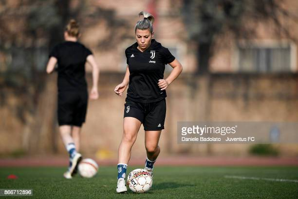 Simona Sodini during a Juventus Women training session on October 26 2017 in Turin Italy