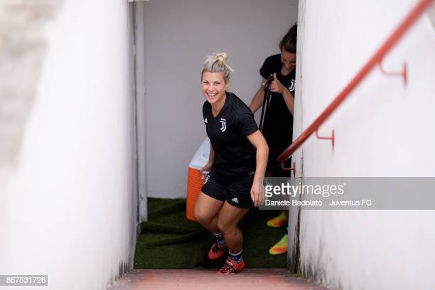 Simona Sodini during a Juventus Women training session on October 4 2017 in Turin Italy