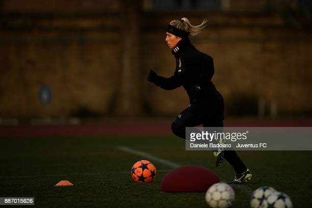 Simona Sodini during the Juventus Women Training Session on December 6 2017 in Turin Italy