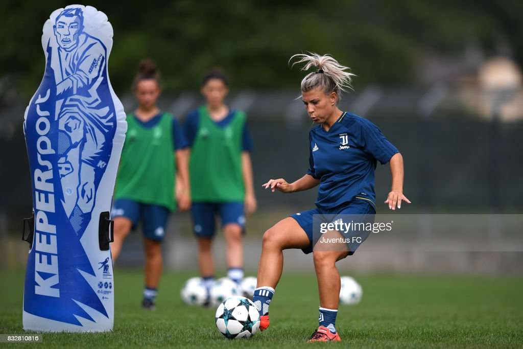 Simona Sodini of Juventus Women during a training session on August 16, 2017 in Aymavilles near Aosta, Italy.