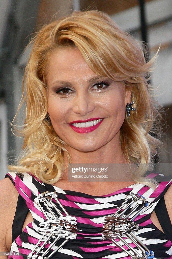 Simona Ventura attends the RAI Autumn / Winter 2010 TV Schedule held at Castello Sforzesco on June 15, 2010 in Milan, Italy.