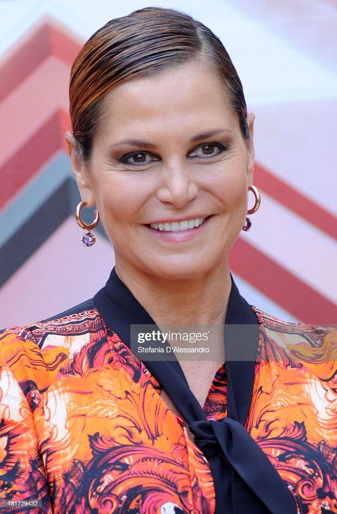Simona Ventura attends X Factor 2013 Photocall at La Fonderia Napoleonica on September 24, 2013 in Milan, Italy.