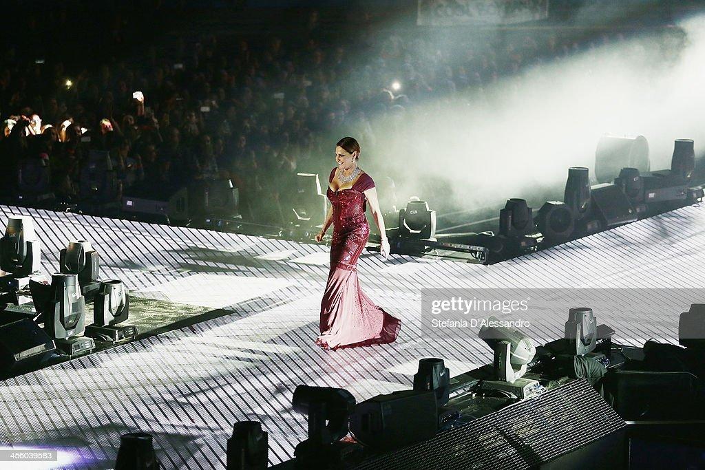 Simona Ventura attends ''X Factor'- The Final on December 12, 2013 in Milan, Italy.