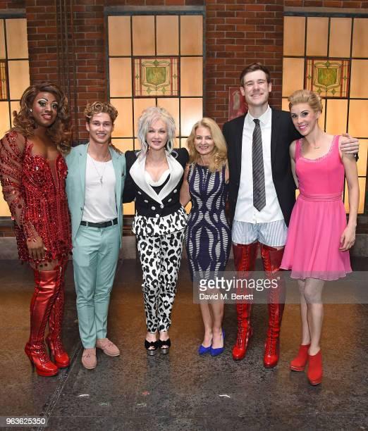 SimonAnthony Rhoden AJ Pritchard Cyndi Lauper guest David Hunter and Verity RushworthShaw attend the 'Kinky Boots' Gala Night hosted by Cyndi Lauper...