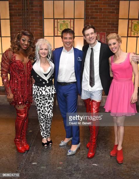 SimonAnthony Rhoden Cyndi Lauper John Barrowman David Hunter and Verity RushworthShaw attend the 'Kinky Boots' Gala Night hosted by Cyndi Lauper in...