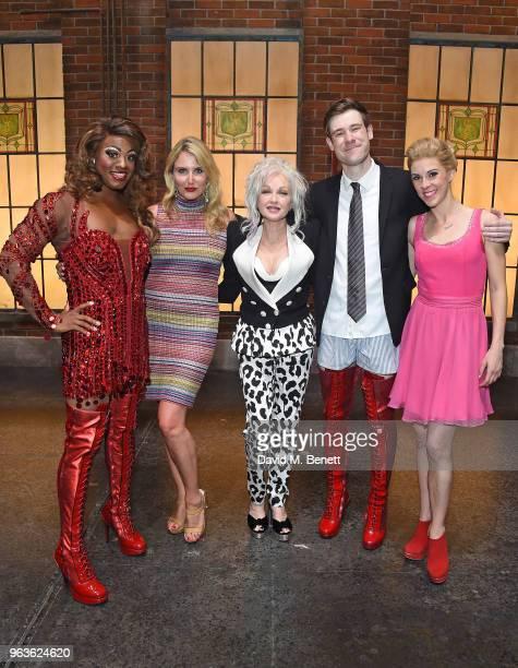 SimonAnthony Rhoden Nancy Sorrell Cyndi Lauper David Hunter and Verity RushworthShaw attend the 'Kinky Boots' Gala Night hosted by Cyndi Lauper in...
