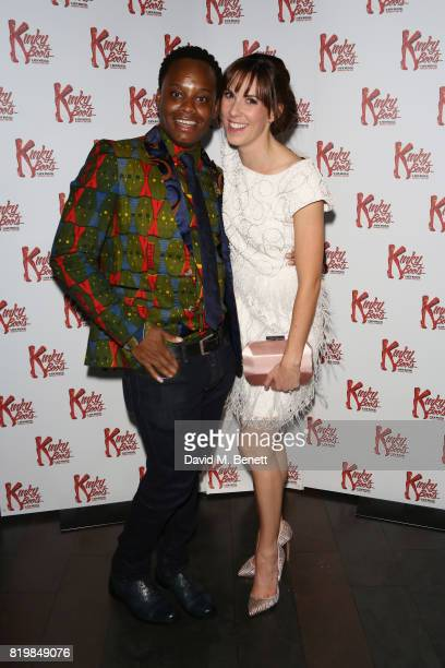 Simon-Anthony Rhoden, playing Lola, and Verity Rushworth, playing Lauren, attend this summer's hottest musical Kinky Boots at the Adelphi Theatre...