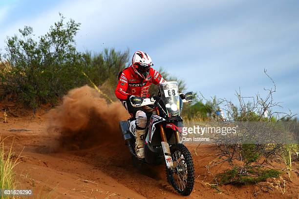 Simone Agazzi of Italy and Honda MEC rides a CRF 450 Rally Honda bike in the Classe 21 Super Production during stage eleven of the 2017 Dakar Rally...