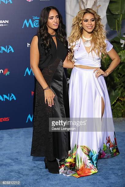 Simone Alexandra Johnson and DinahJane Hansen arrive at the AFI FEST 2016 presented by Audi premiere of Disney's 'Moana' held at the El Capitan...