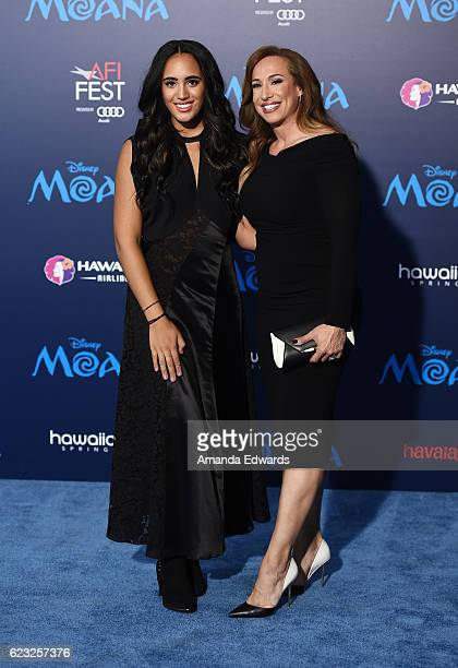 Simone Alexandra Johnson and producer Dany Garcia arrive at the AFI FEST 2016 Presented By Audi premiere of Disney's 'Moana' at the El Capitan...